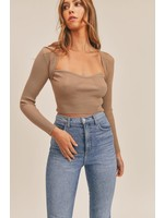 Mable Ribbed Shrug Crop Top - MT1280