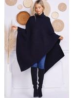 Charlotte Avery Turtleneck Oversized Knit Poncho - 210462