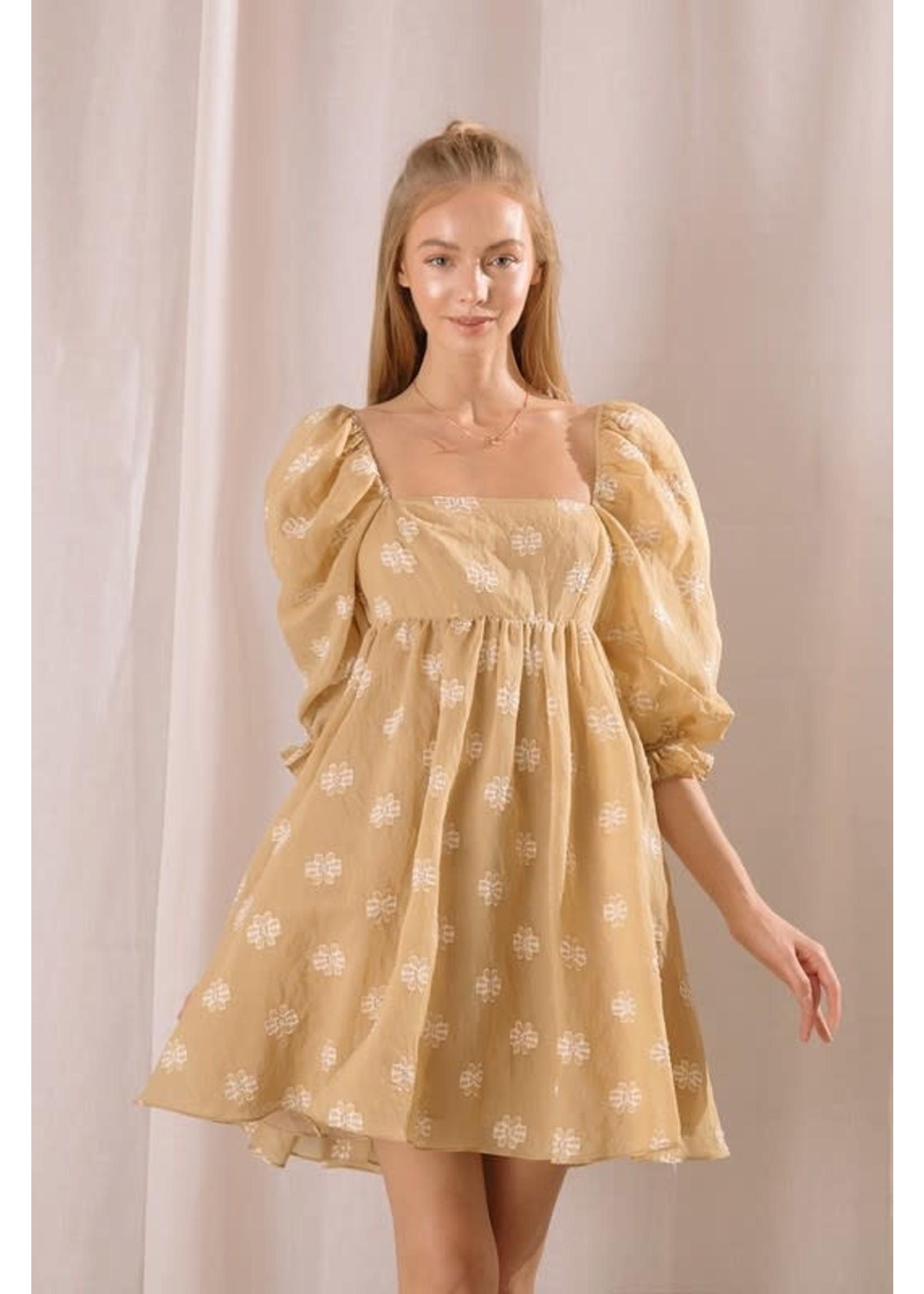 Storia Daisy Applique Babydoll Mini Dress - JD2443DS