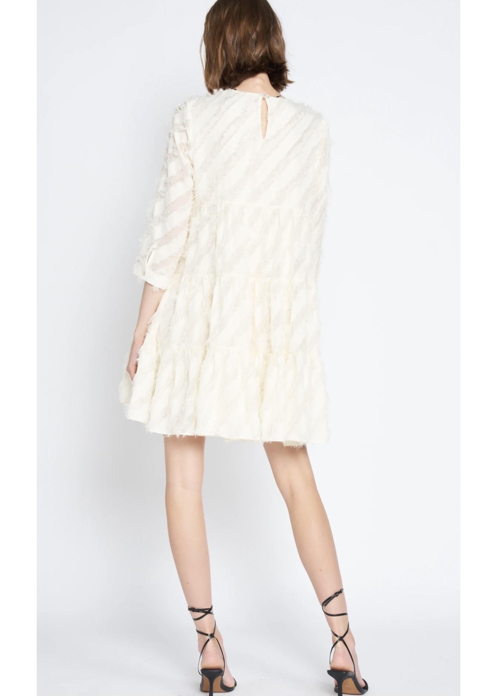 En Saison Textured Chiffon Dress - IES2023D