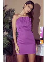 DO + BE Strapless Pleated Bodycon Dress - GY0732