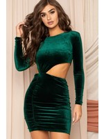 Symphony Velvet Cutout Bodycon Mini Dress - ID8236SP