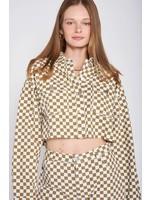 Emory Park Cropped Checkered Jacket - IMA6799J