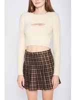 Emory Park Fuzzy Two Piece Sweater Top - IMA6608T
