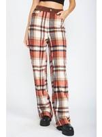 Emory Park Plaid Loose Straight Leg Pants - IMD6965P