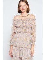 Emory Park Organza Off The Shoulder Blouse - ISS1096T