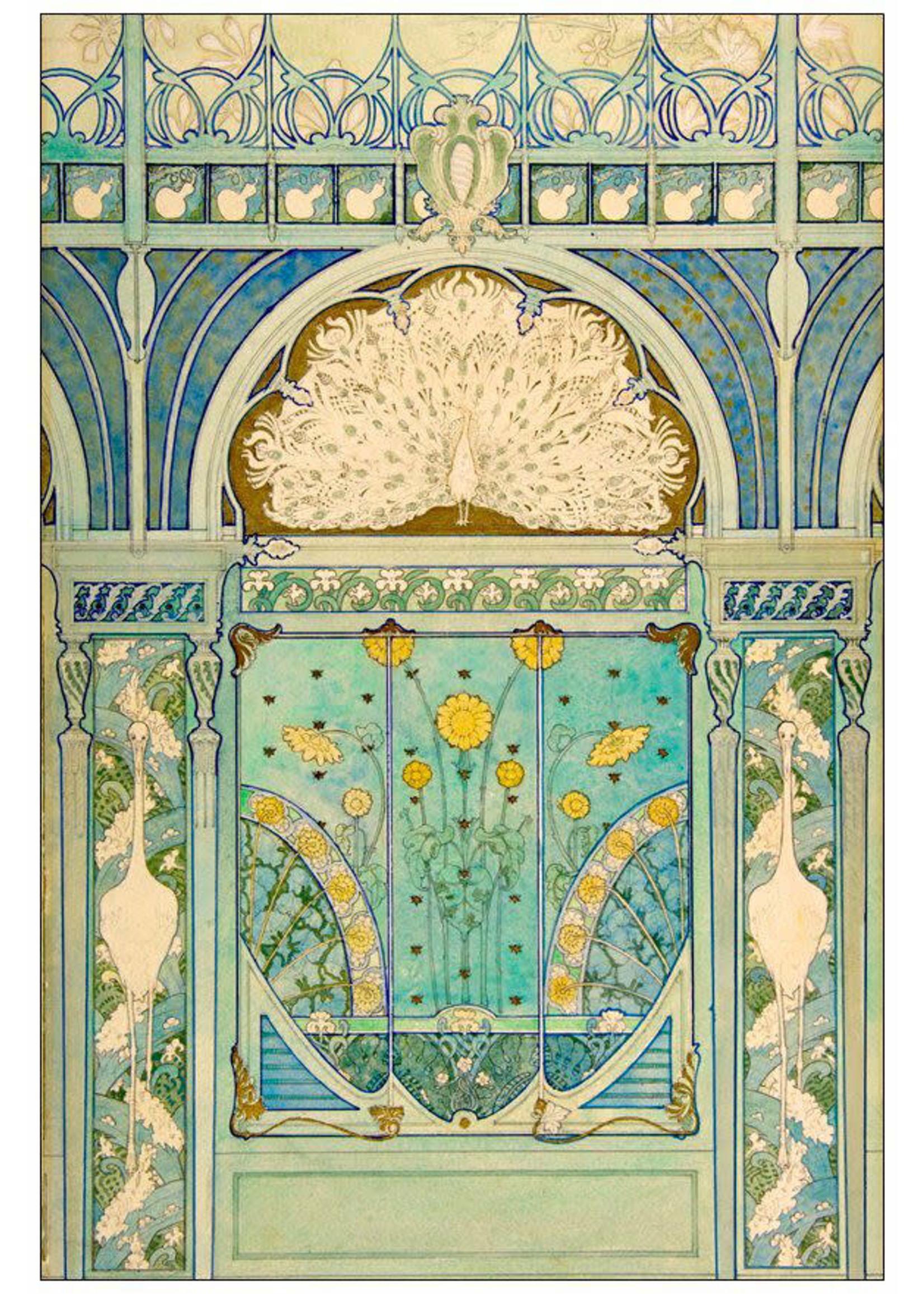 Roycycled Treasures Art Deco Peacocks Decoupage Paper