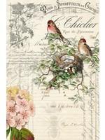 Roycycled Treasures Bird Ephemera Decoupage Paper