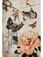 Roycycled Treasures Butterfly Floral Decoupage Paper