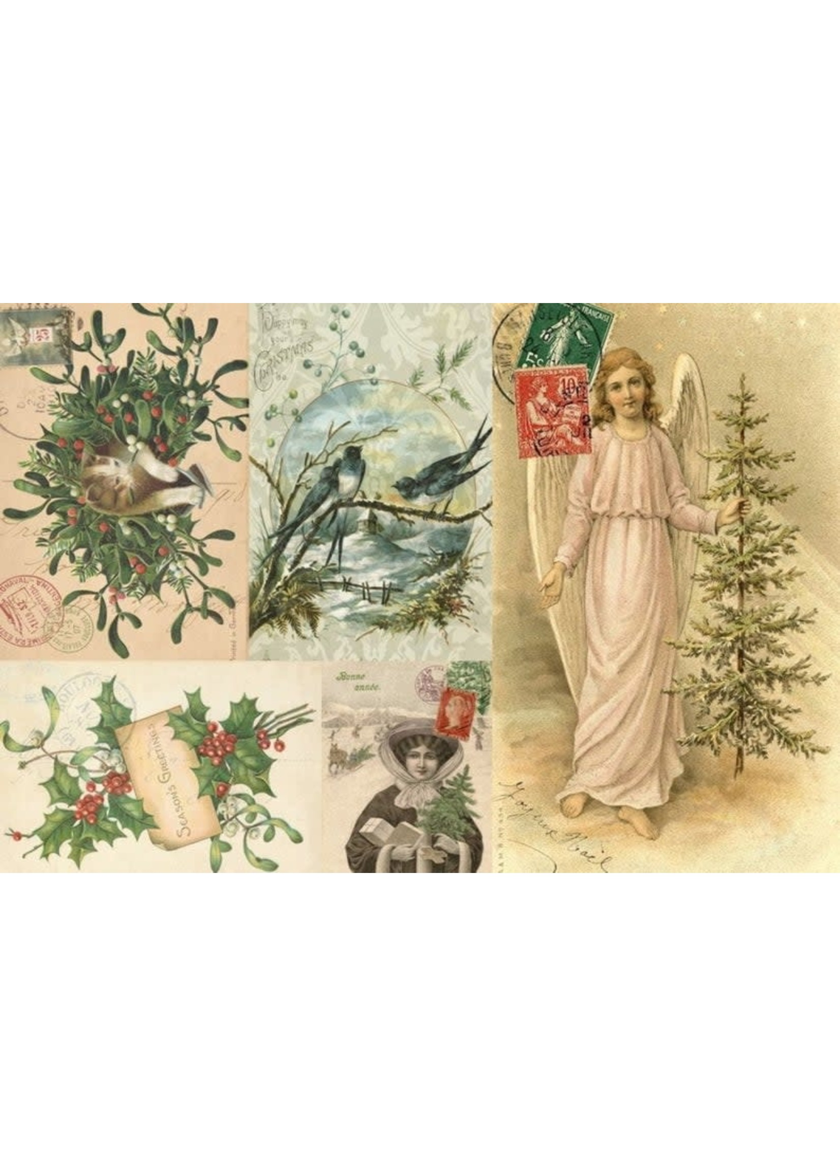 Roycycled Treasures Christmas Project Block Decoupage Paper