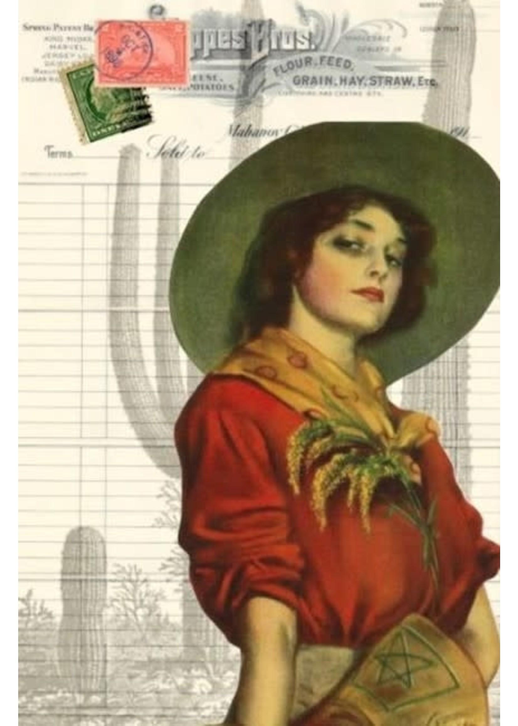 Roycycled Treasures Cowgirl Ephemera Decoupage Paper