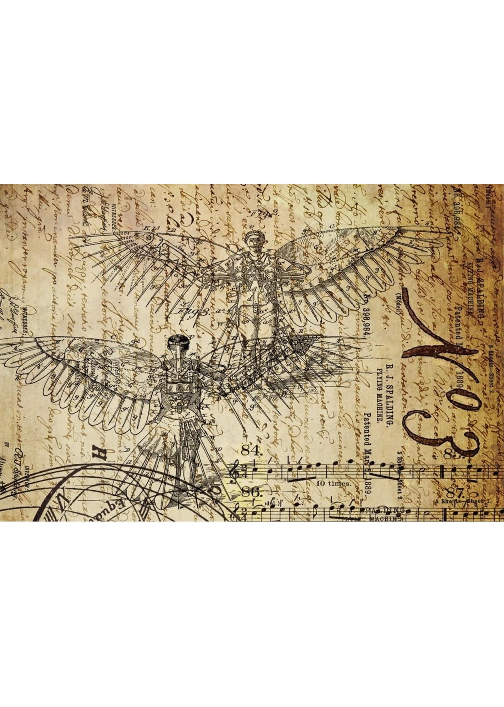 Roycycled Treasures Dream of Flight 1 Decoupage Paper