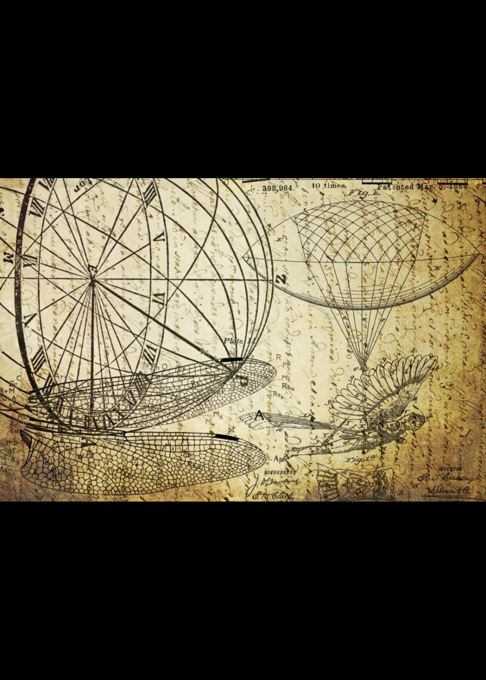 Roycycled Treasures Dreams of Flight 2 Decoupage Paper