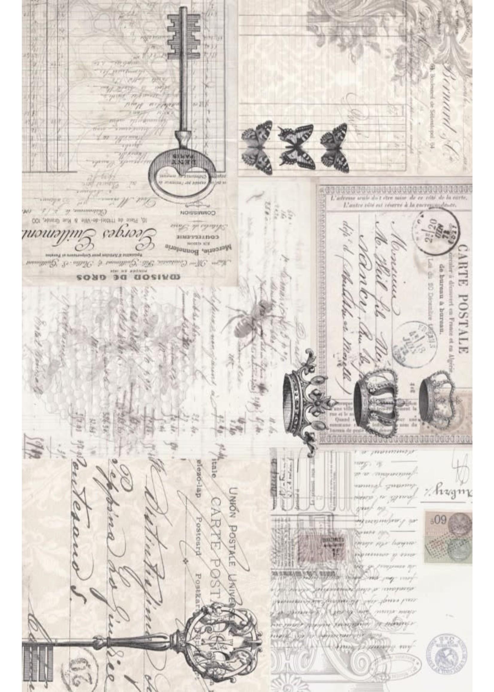 Roycycled Treasures Ephemera Collage Decoupage Paper