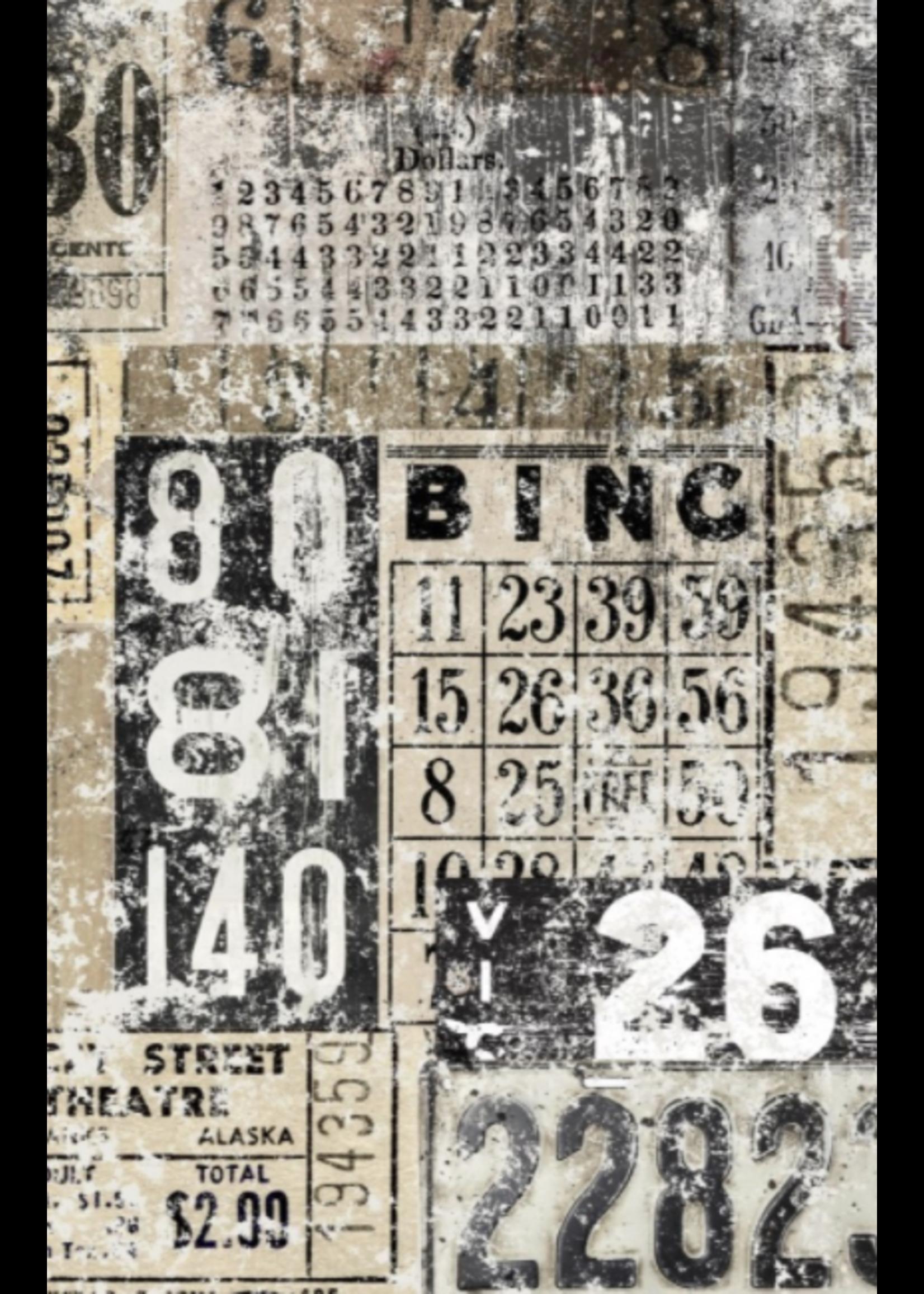 Roycycled Treasures Grunge Numbers Decoupage Paper
