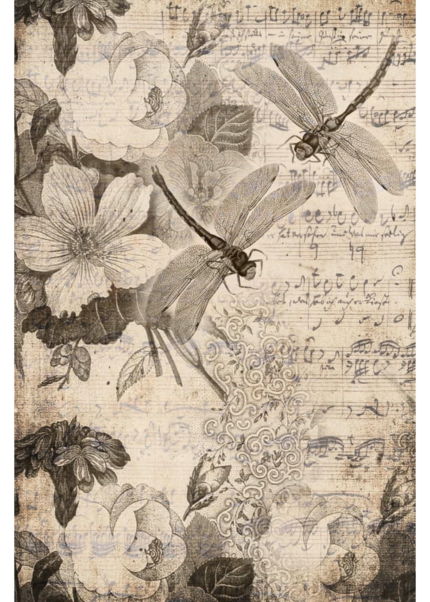 Roycycled Treasures Musical Dragonflies Decoupage Paper