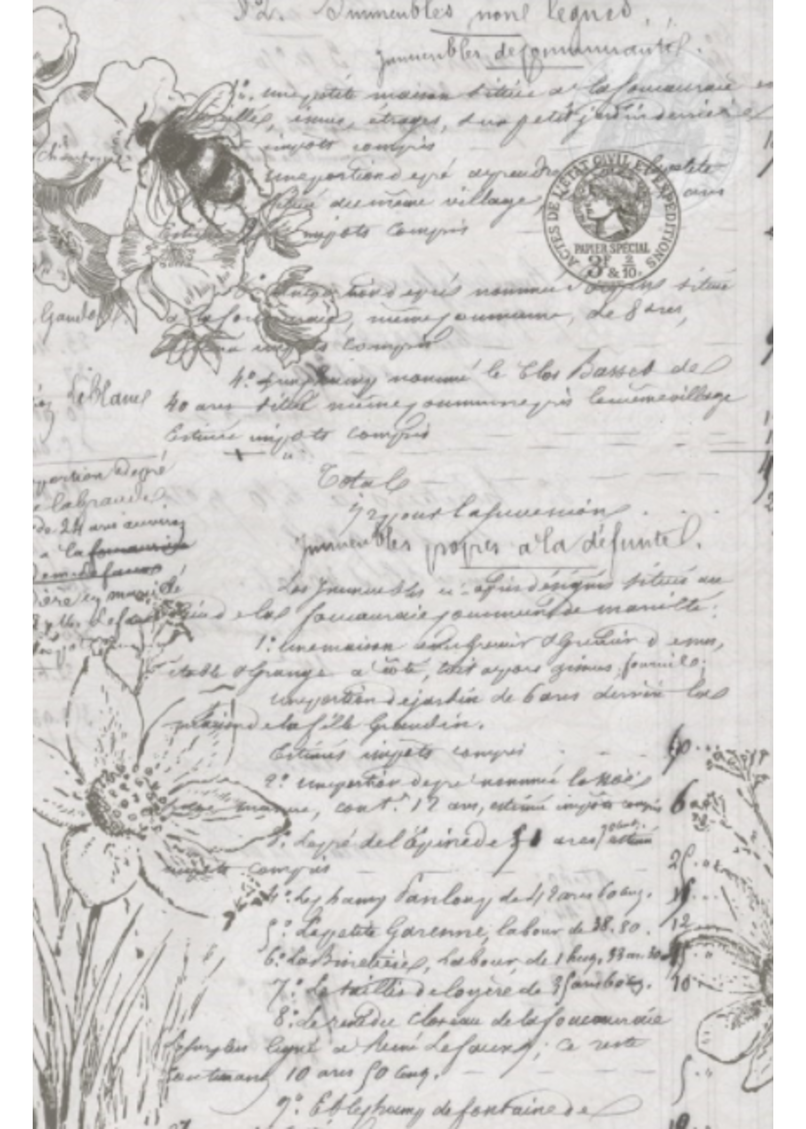 Roycycled Treasures Natural History Decoupage Paper