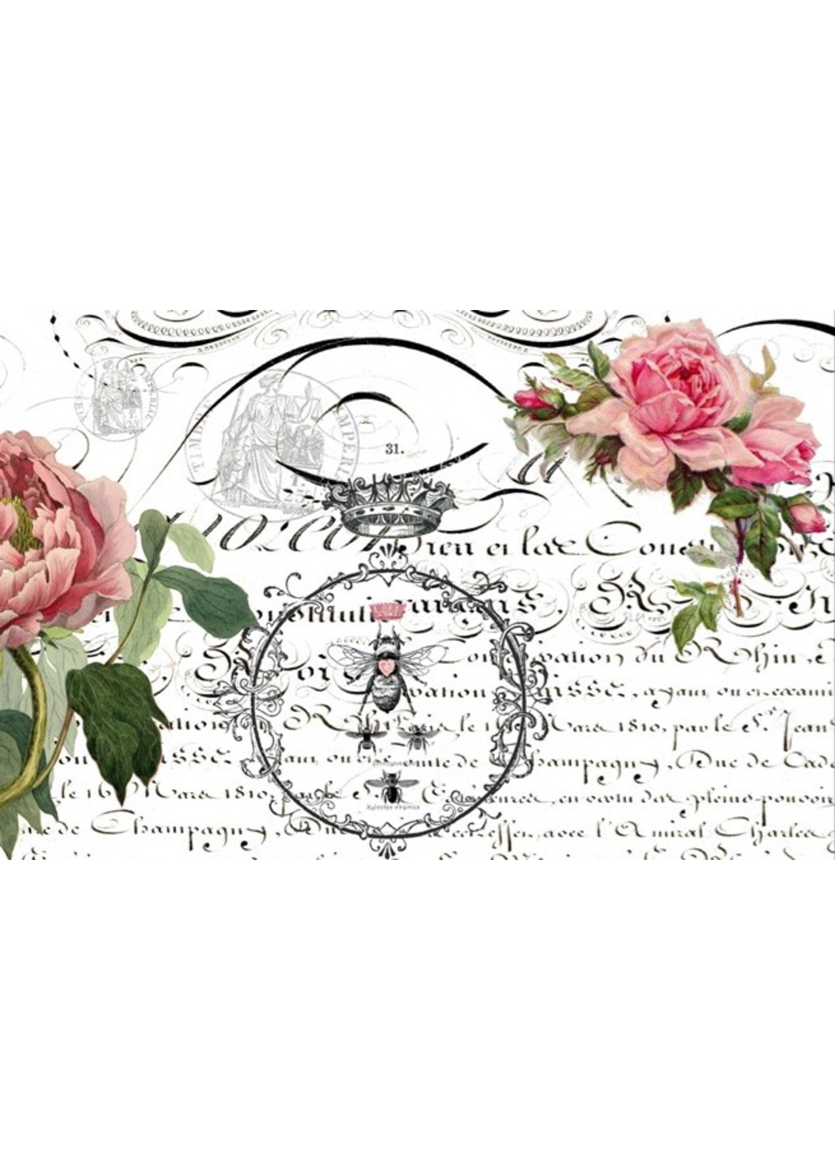 Roycycled Treasures Queen Bee Decoupage Paper