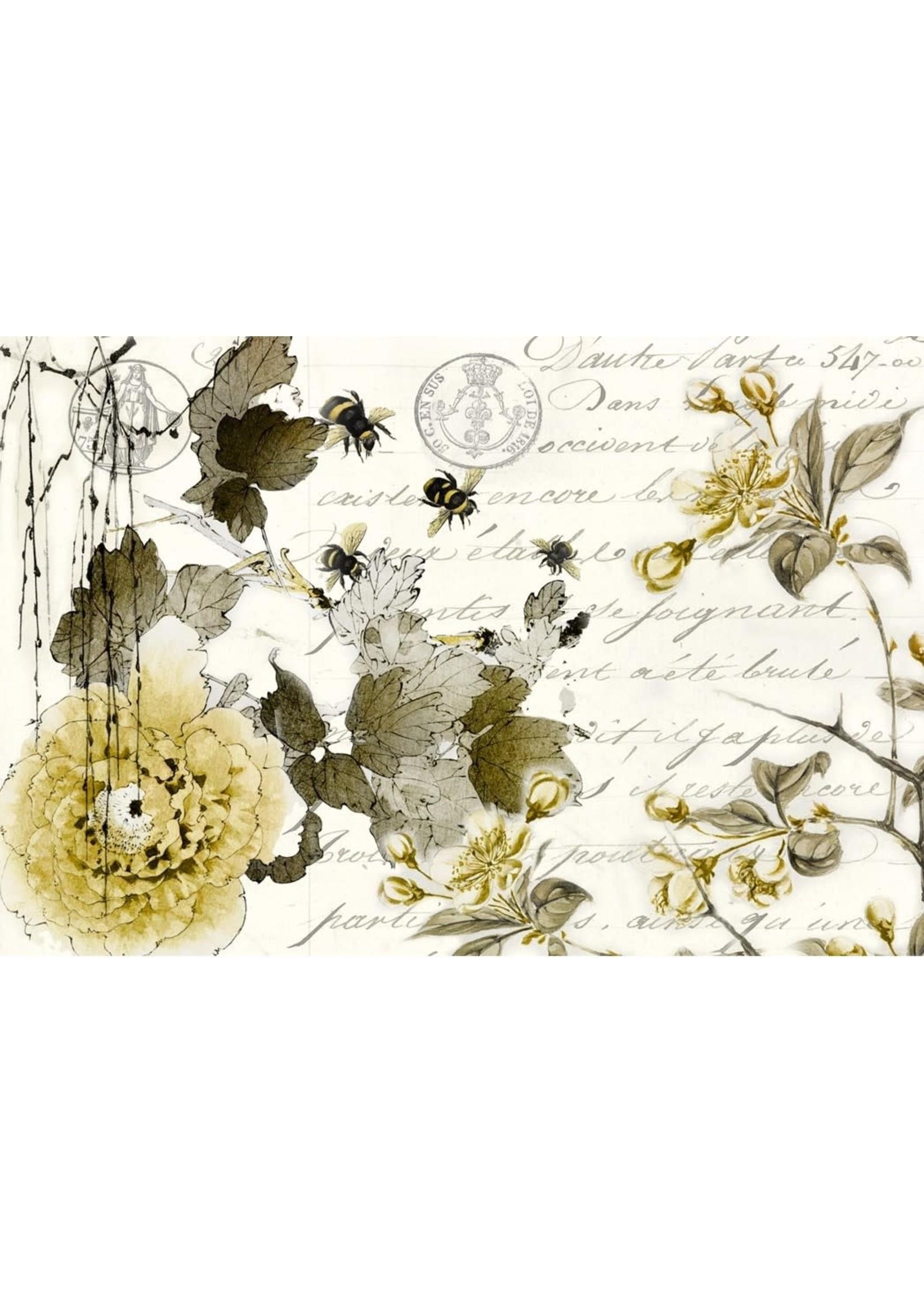 Roycycled Treasures Sepia Blossom Decoupage Paper