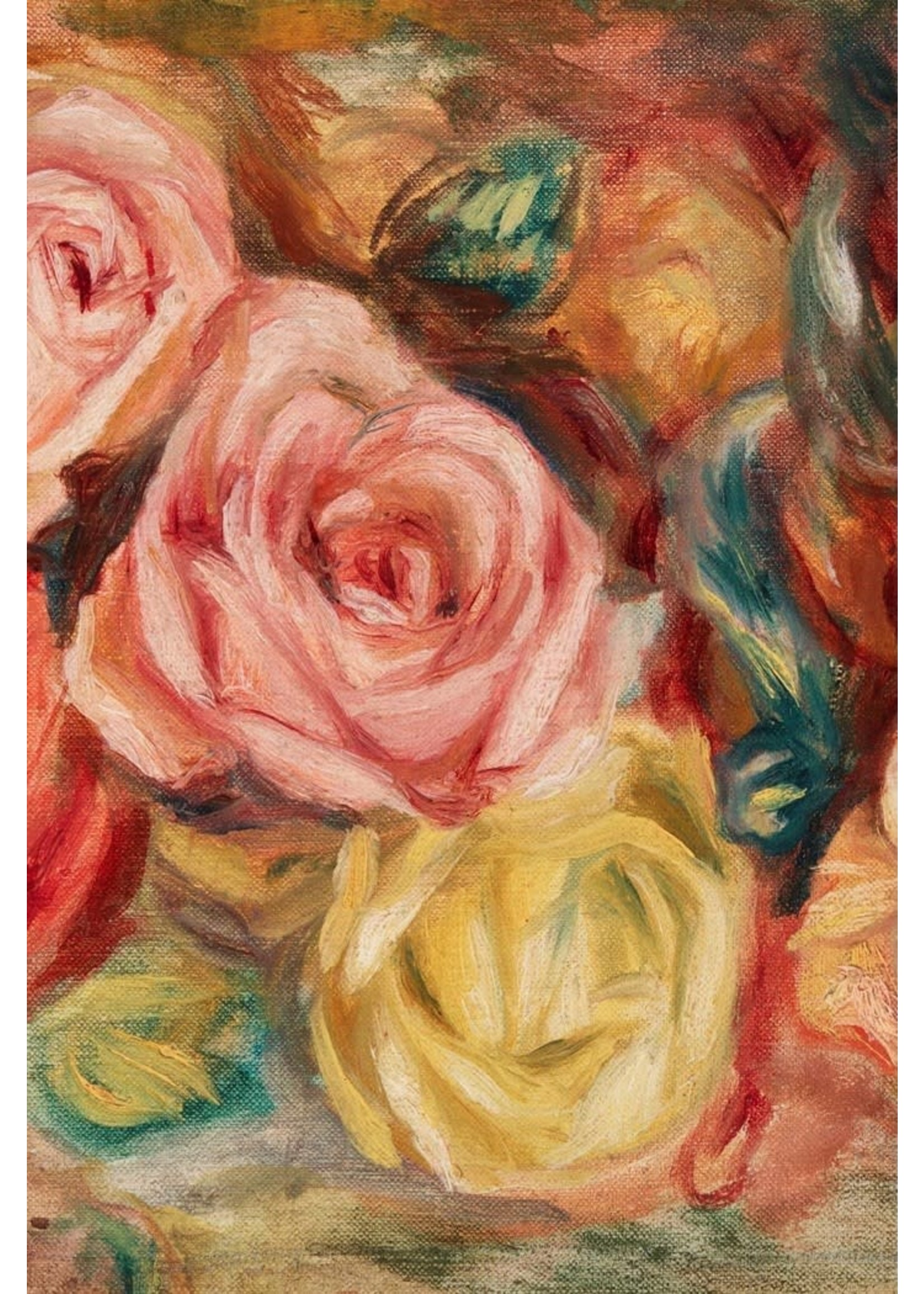 Roycycled Treasures Textured Floral Left Decoupage Paper
