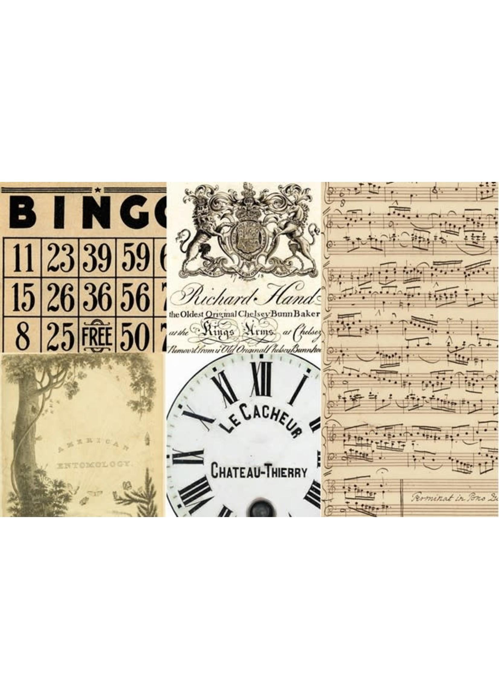 Roycycled Treasures Typography Blocks Decoupage Paper