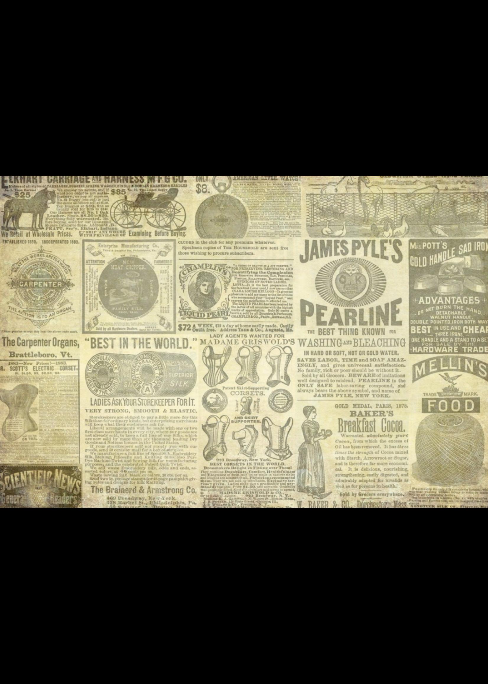 Roycycled Treasures Vintage Ads Decoupage Paper