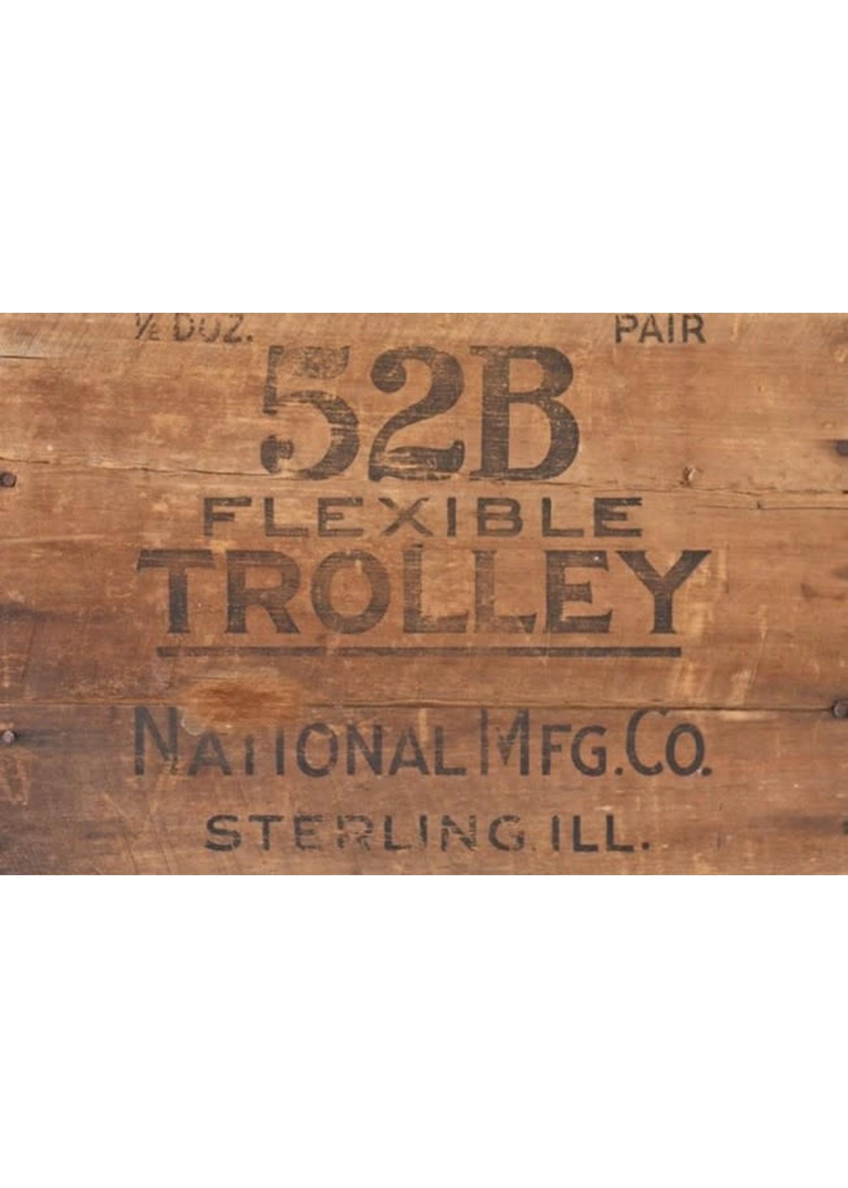 Roycycled Treasures Wood Crate Trolley Decoupage Paper