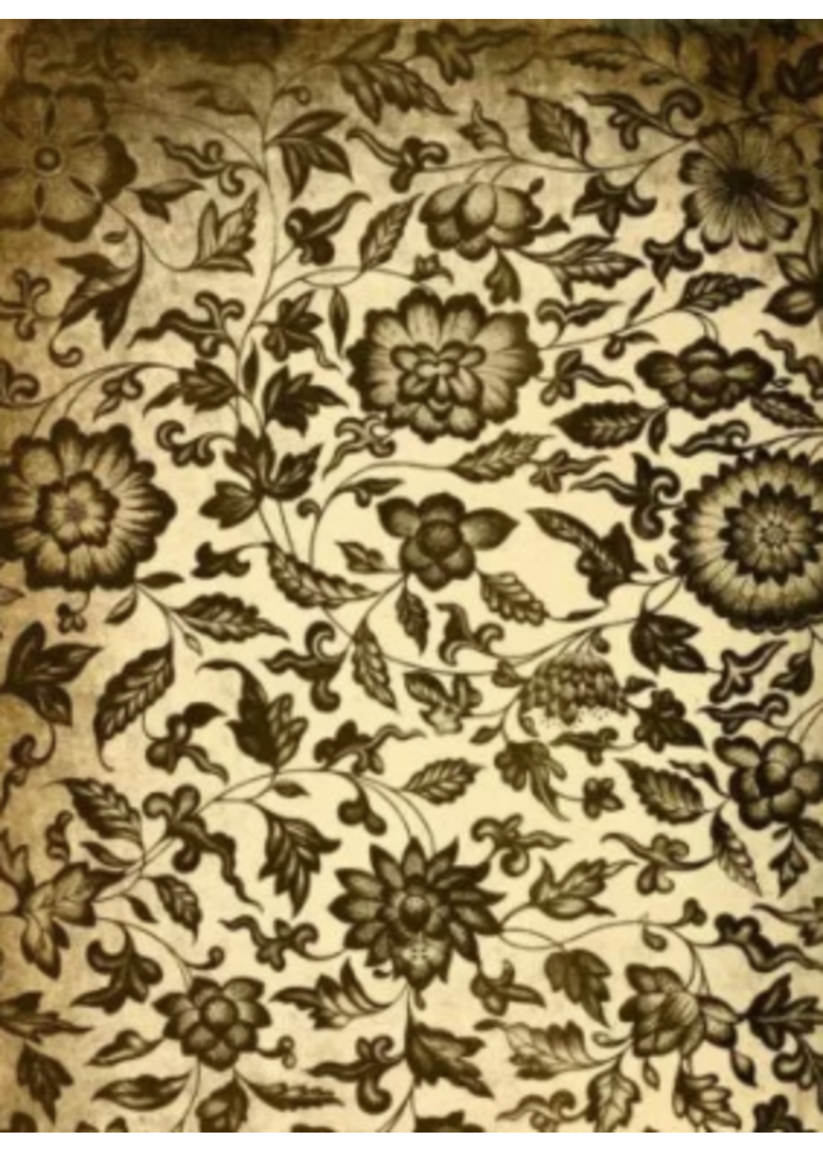 Roycycled Treasures Grungy Floral Roycycled Treasures Decoupage Paper