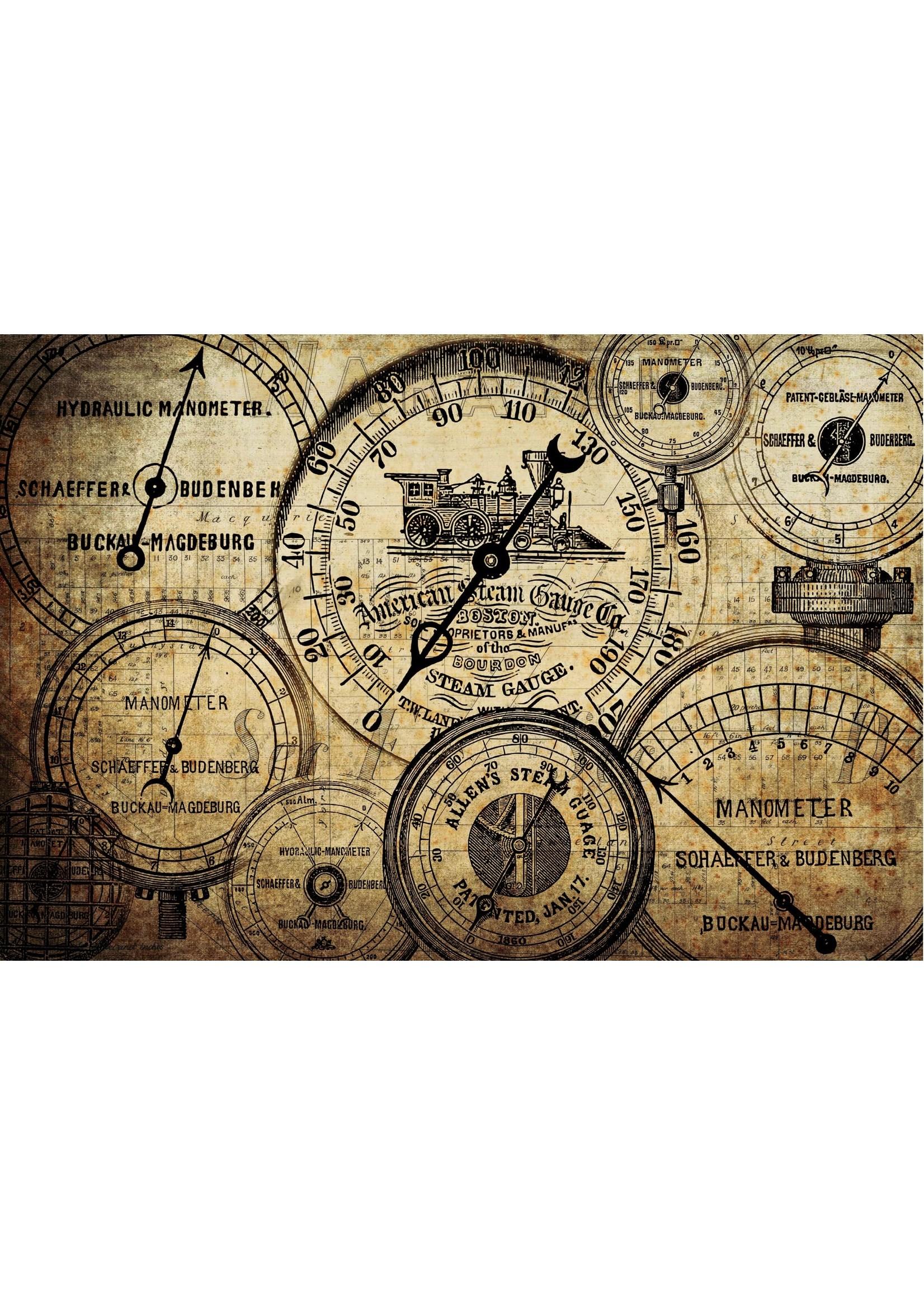 Roycycled Treasures Grunge Meters Roycycled Treasures Decoupage Paper