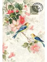 Roycycled Treasures Blue Winged Birds Decoupage Paper