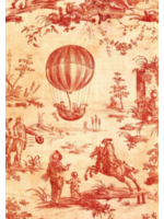 Roycycled Treasures Red Toile Decoupage Paper