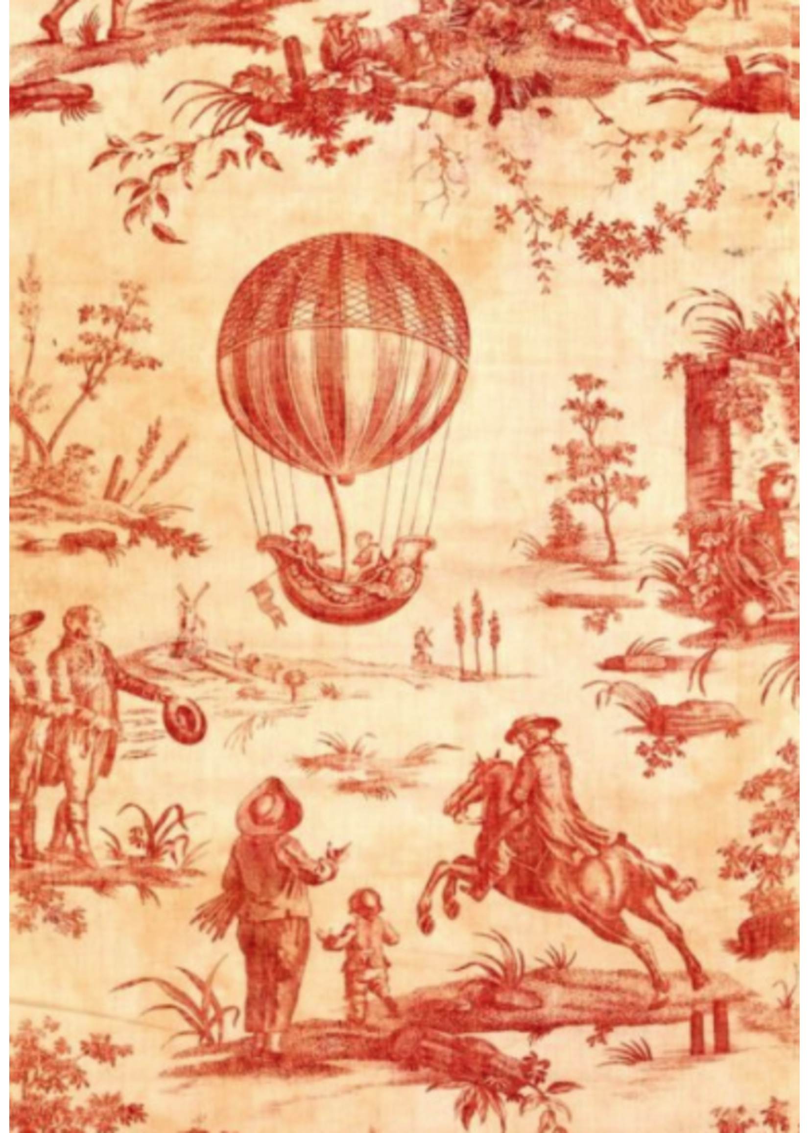 Roycycled Treasures Red Toile Roycycled Treasures Decoupage Paper
