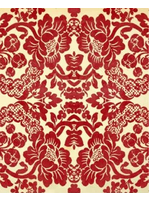 Roycycled Treasures Red Damask Decoupage Paper
