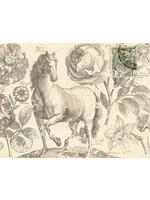 Roycycled Treasures Botanical Equine Decoupage Paper