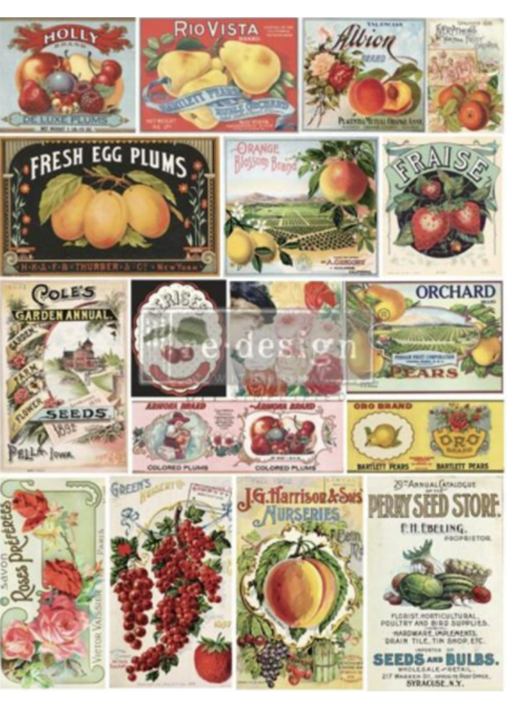 Re-Design with Prima® Vintage Seed Re·Design with Prima® Transfers