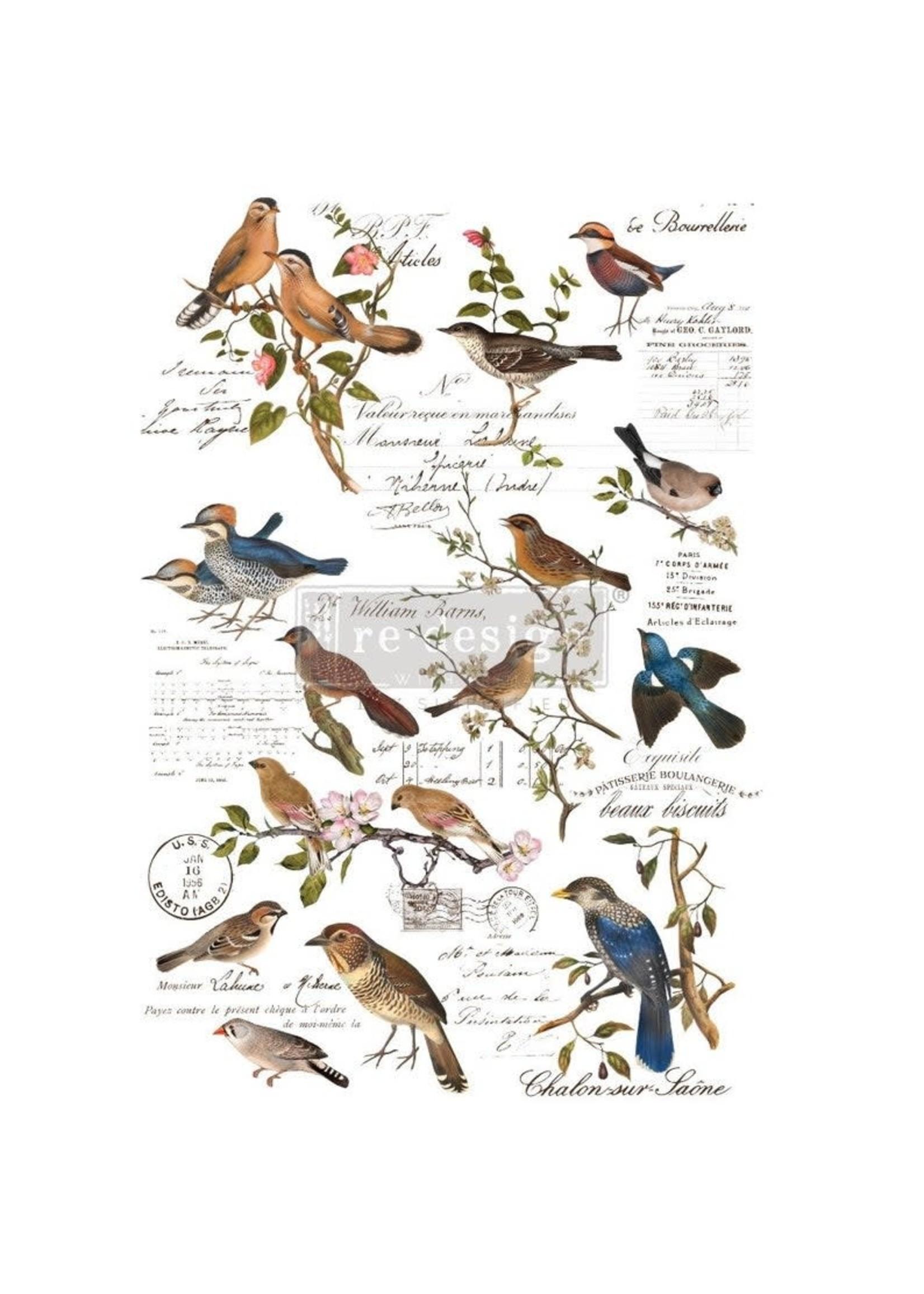 Re-Design with Prima® Postal Birds Re·Design with Prima® Transfers