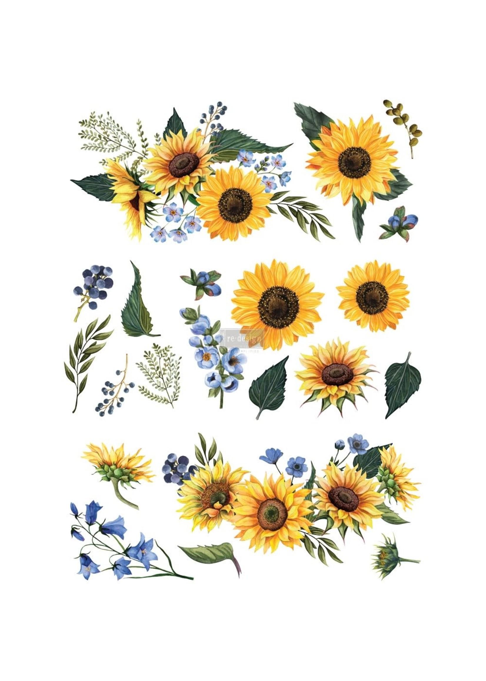 Re-Design with Prima® Sunflower Fields Re·Design with Prima® Transfers