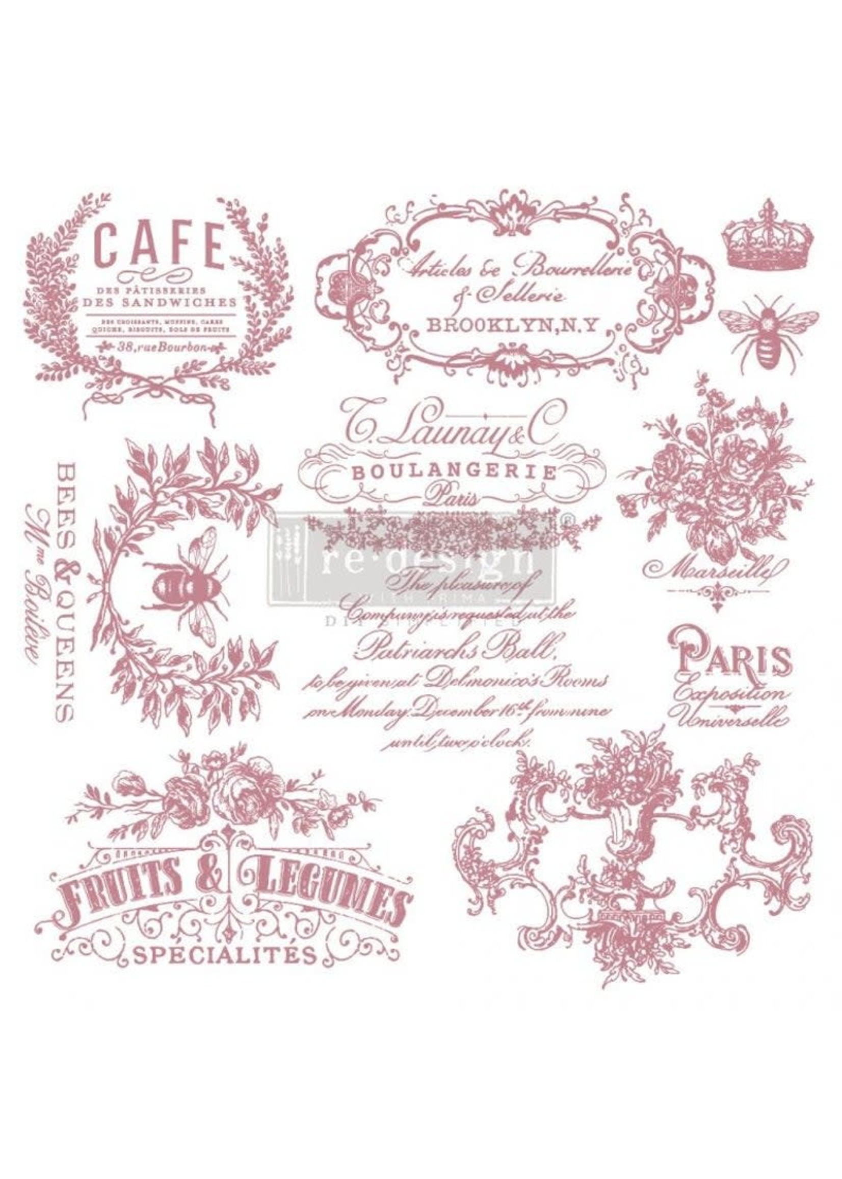 Re-Design with Prima® I See Paris Re·Design with Prima® Clear Cling Stamps
