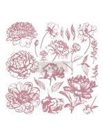 Re-Design with Prima® Linear Floral Clear Cling Stamps