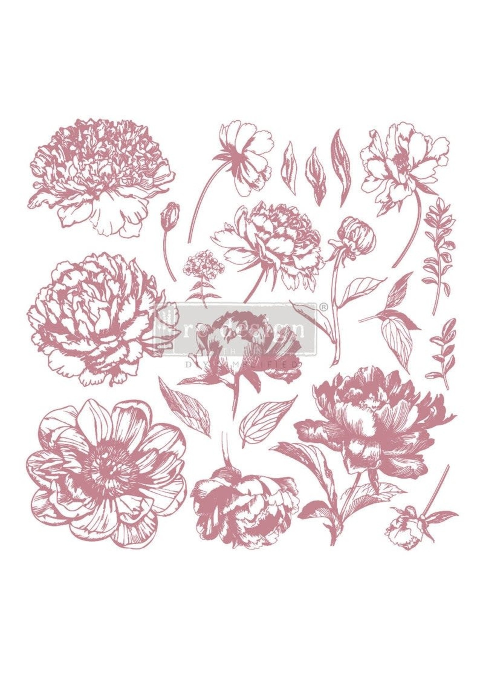 Re-Design with Prima® Linear Floral Re·Design with Prima® Clear Cling Stamps