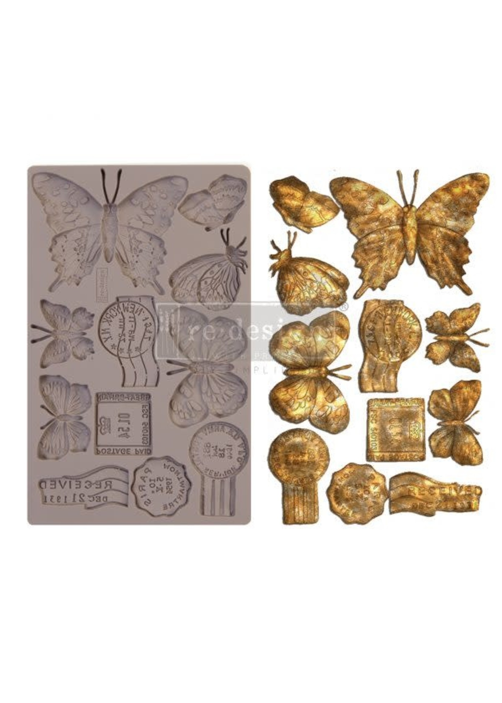Re-Design with Prima® Butterfly In Flight Redesign with Prima® Decor Moulds®