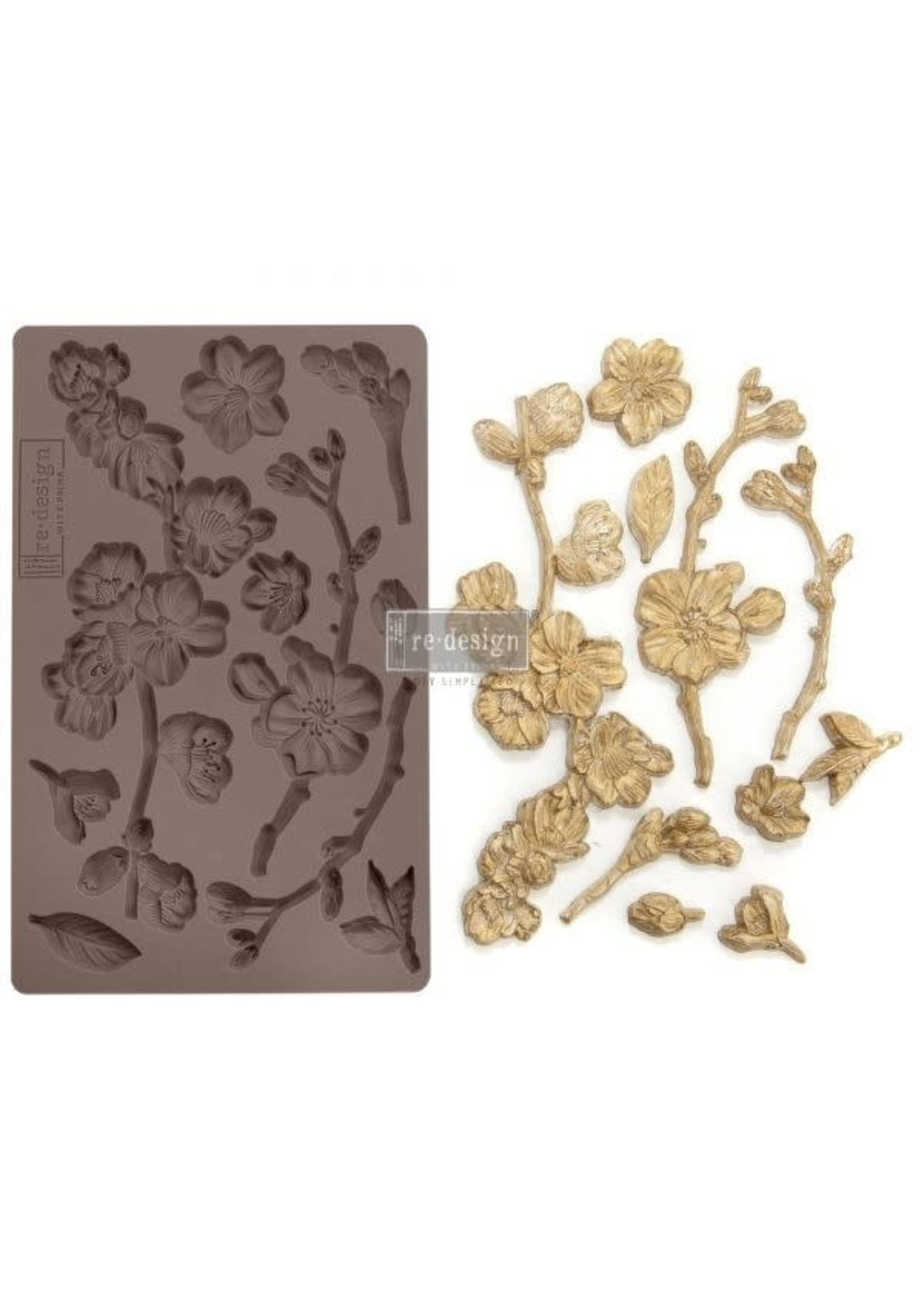 Re-Design with Prima® Cherry Blossoms Redesign with Prima® Decor Moulds®