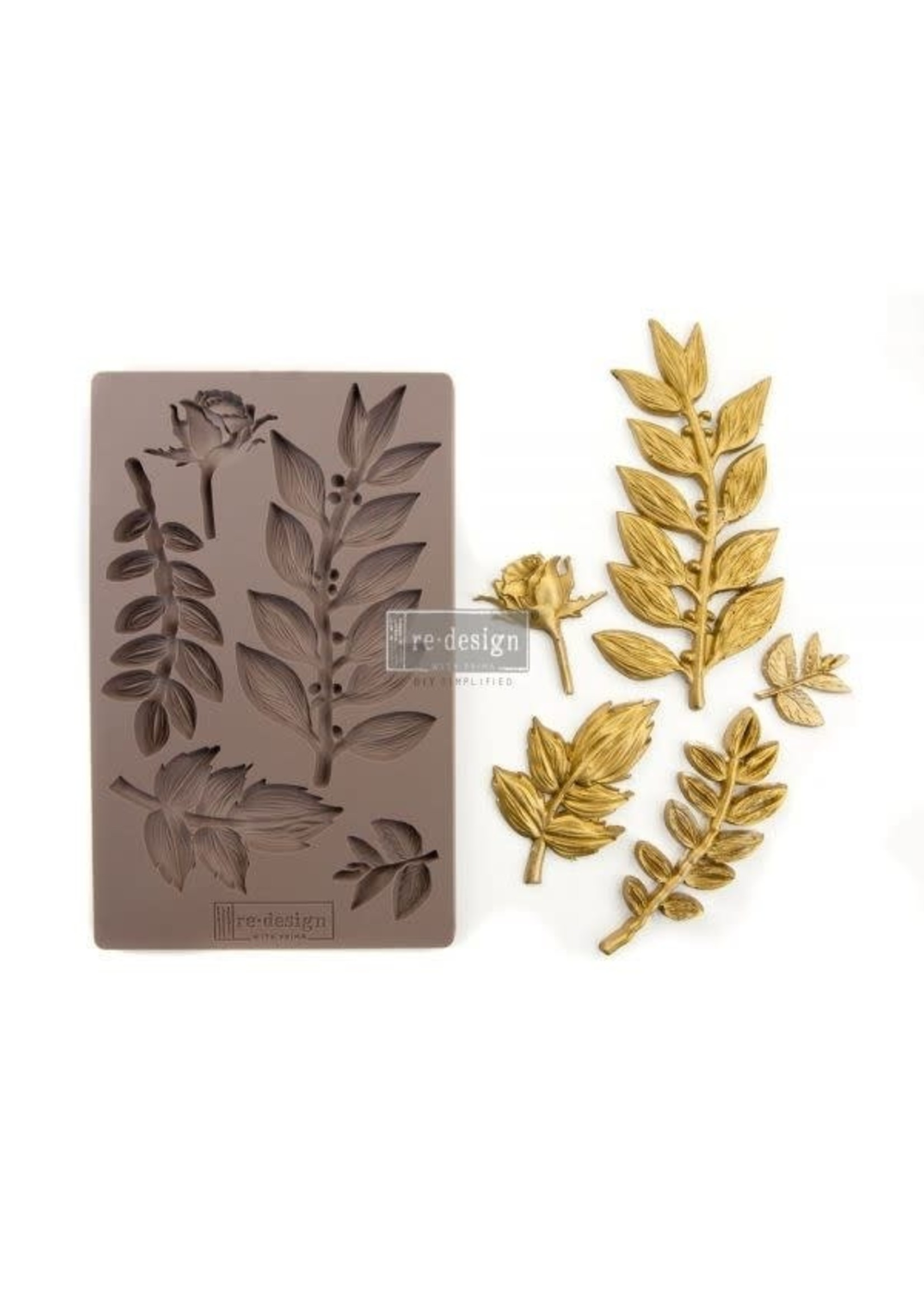 Re-Design with Prima® Leafy Blossoms Redesign with Prima® Decor Moulds®