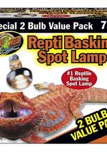 Zoo Med Labs Inc Zoo Med Labs bulb basking spot 75w 2pk