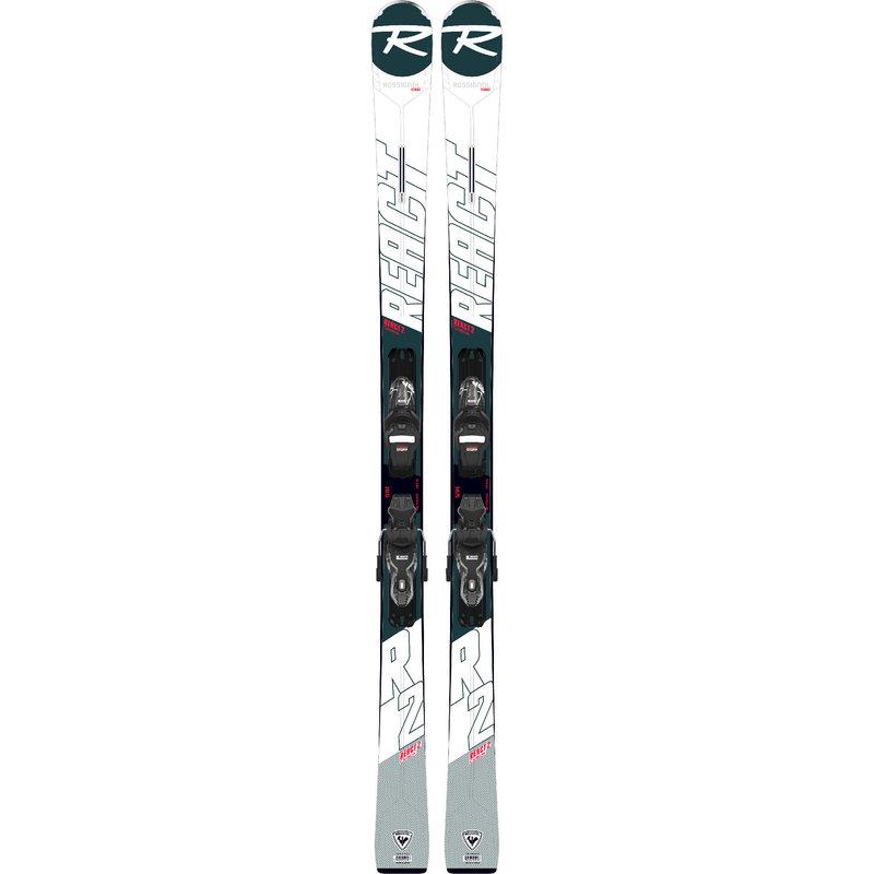 Rossignol React 2 Skis + XP 10 GW RTL Bindings