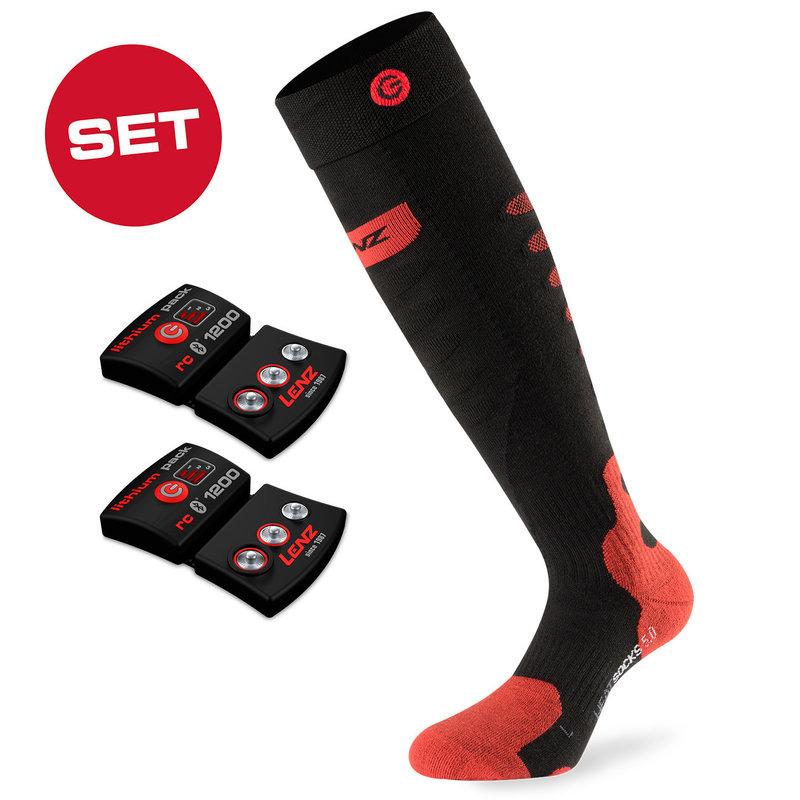 Lenz Set Of Lithium Pack  RCB1200 + Heat Sock 5.0 Toe Cap