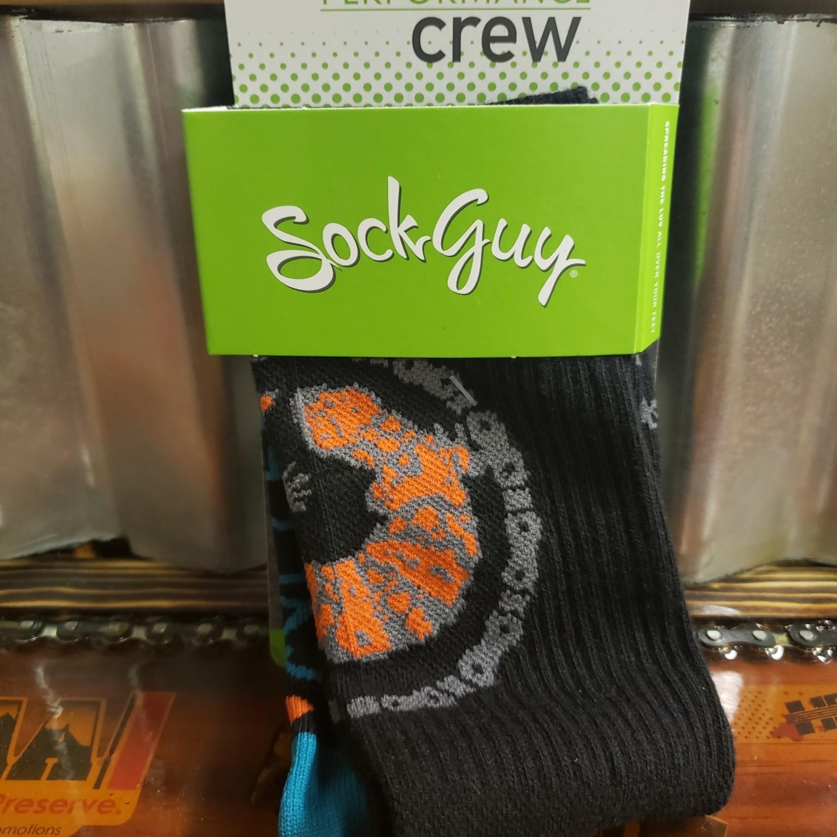 Sock Guy Socks - Sonoran - Black/Orange
