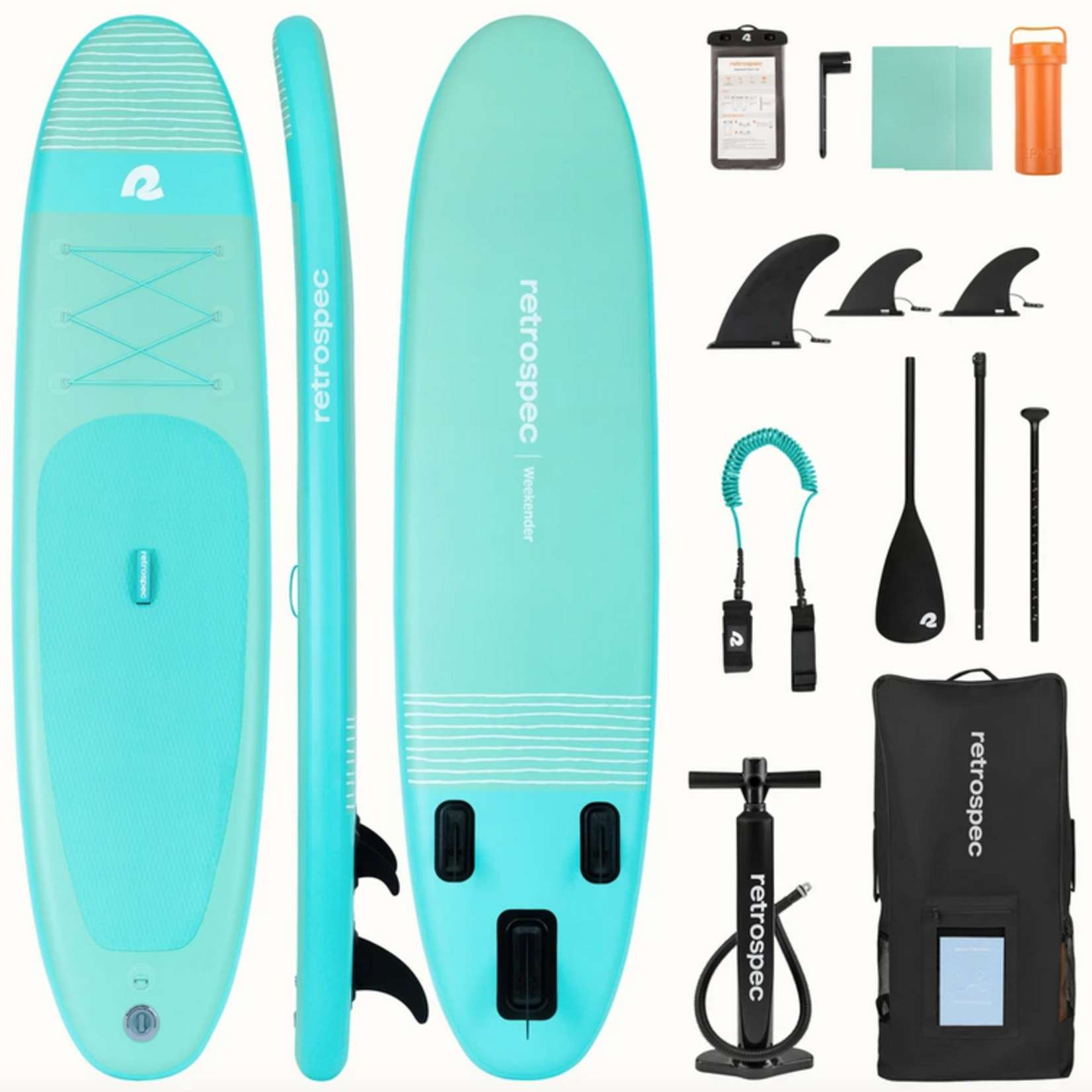 RetroSpec Retrospec Paddle - Weekender Inflatable Paddle Board 10'