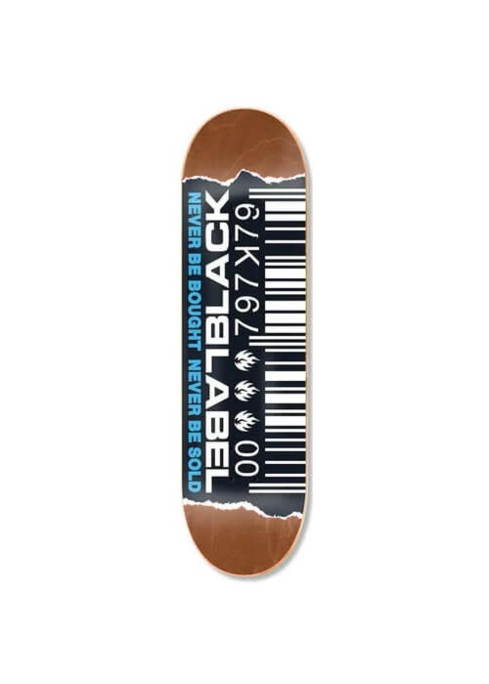 Black Label Black Label - Barcode ripped Deck - 8.25