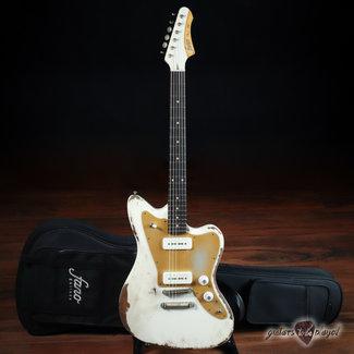Fano Fano JM6 Oltre Lollar Alnico Pole P-90 Electric Guitar w/ Gigbag – Olympic White